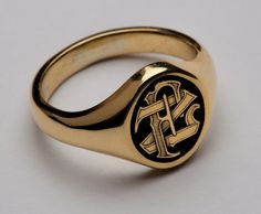 Engraved signet ring by Sam Alfano
