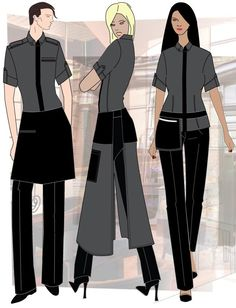 Výsledek obrázku pro fine dining restaurant uniform look