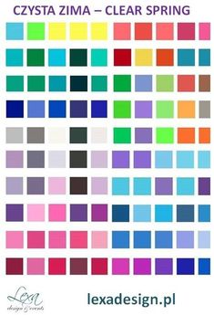 Clear Winter, Clear Spring, Bright Spring, Candy Store, Color, Design, Colour, Colors