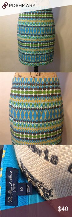"J.Crew Pencil Skirt Basketweave J. CREW Pencil Skirt in Basketweave Blue, Sz 10. This skirt is very gently used, EUC. Skirt is fully lined and has back zipper and hook closure. Skirt has back vent slit.    ✨Measurements Taken Laying Flat ✏️Waist=16 1/2, Hips=20"", Length= 22 1/2"" L.✏️ ( Made of 100% Cotton) J. Crew Skirts Pencil"
