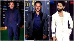 Salman Khan, Saif Ali Khan, Shahid Kapoor: Bollywood's handsome hunks look suave and stylish at IIFA 2017 - The Indian Express #FansnStars