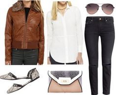 Outfit inspired by the book The Little Prince --- The Pilot and the Snake: Jacket – 6PM, Shirt – Target, Sunglasses – Mango, Jeans – H&M, Purse – New Look, Shoes – Charlotte Russe.