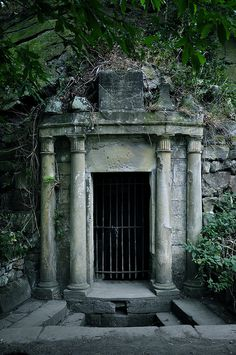 An ancient well on the grounds of Eglinton Castle ruins in Ayrshire, Scotland - the well was built to commemorate Lady Eglinton who had married Alexander Montgomerie, 8th Earl of Eglinton after the death of her husband. circa 1600's.