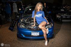Subaru Wrx, Sexy Autos, Car Poses, Girly Car, Import Cars, Jdm Cars, Car Girls, Sexy Cars, Car Show