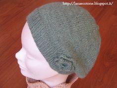 Lana e Cotone (maglia e uncinetto): Basco a ferri