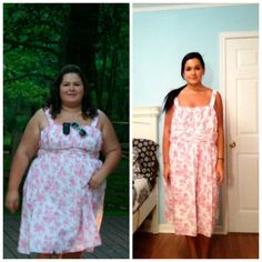 same dress. two years later. 147 lbs down. 23 to go!! :)