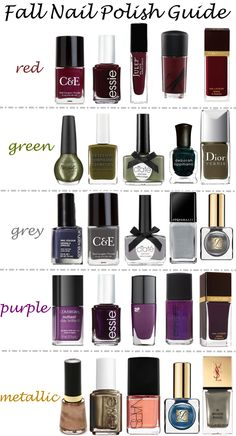 Fall Nail Polish Guide | Luci's Morsels #nailart #fallfashion #beauty