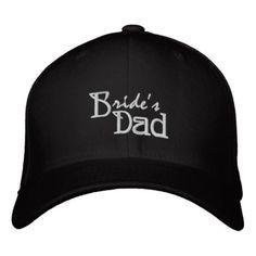 ad1dda03b8957 Bride s Dad Embroidered Baseball Cap  dadhat  hatfordad  truckerhat  Embroidered Baseball Caps
