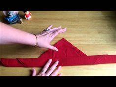 How to fold the famous rose napkins from Walt Disney World's Be Our Guest Resteraunt.