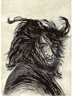Elina Merenmies: Kaikki puut ovat minun, muste käsintehdylle paperille, 2013. Helene Schjerfbeck, Art Drawings, Ink, Illustration, Instagram Posts, Prints, Imagination, Chinese, Trees