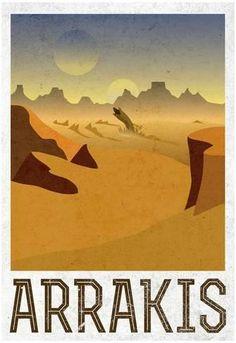 Poster: Arrakis Retro Travel : 19x13in