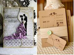 Invitaciones de boda con mucho glamour