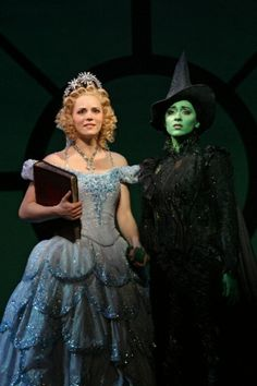 Glinda and Elphaba from Wicked. I got to meet Stephen Schwartz tonight and he was the kindest, most sincere man I've ever met.