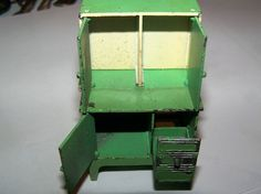 1930's file under TOOTSIE TOY   DOLLHOUSE FURNITURE - KITCHEN CUPBOARD - OPENING DOORS in Dolls & Bears, Dollhouse Miniatures, Furniture & Room Items | eBay