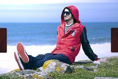 George for Beat Jacket | Red  Beat Jacket  Felpa | 100 % Algodão + Poliuretano