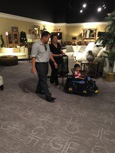 Mattress Mack assisting a Gallery Furniture customer Houston TX