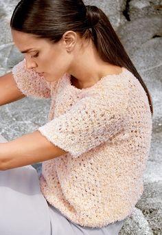 Lana Grossa PULLI IM NETZMUSTER MIT SCHULTERPASSEN Gallina - FILATI Handstrick No. 64 - Modell 32 | FILATI.cc WebShop