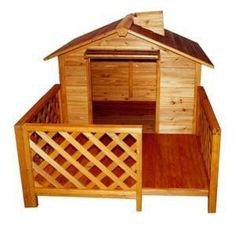 This Dog House Mansion made from strong cedar craftsmanship. This large sized Mansion Dog House comes with a slarge open-aired front porch surrounded by latticework to allow your dog both warmth and comfort. The Mansion Dog House is designed with a r Wooden Dog House, Large Dog House, Dog Training Methods, Basic Dog Training, Agility Training, Training Dogs, Training Equipment, Cat Dog, Pet Home