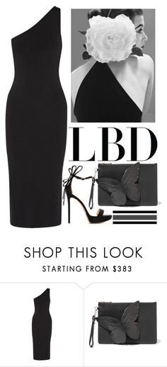"""""""Little Black Dress"""" by carlina-tof ❤ liked on Polyvore featuring Theory, Sophia Webster and Nicholas Kirkwood"""