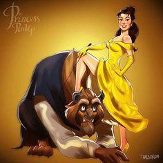 Disney Pin-up – Quand les princesses Disney rencontrent le monde des pin-ups (image)