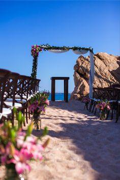 Cabo San Lucas beach destination wedding ceremony setup. . #cabo #cabosanlucas #loscabos #wedding #cabocatering #cateringcabo #catering #loscaboscatering #lazygourmet #wedding #weddingreception #destinationwedding #beachwedding