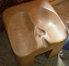 Scotish bar stool for kilts. (This is so wroong)! Haha