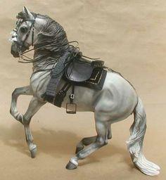 Breyer Andulusian with Handmade Spanish style tack set