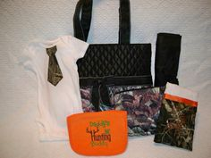 PERSONALIZED 6 Piece CAMO Diaper Bag Set by grinsandgigglesbaby1, $62.50