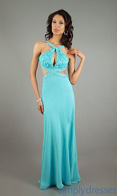 Dave and Johnny Halter Evening Gown 7220