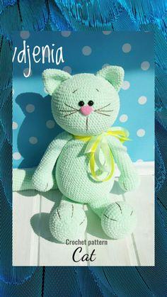 Crochet Animal Patterns, Crochet Patterns Amigurumi, Crochet Animals, Cat Amigurumi, Crochet Projects, Crochet Ideas, Unique Crochet, Knitting Toys, Knitting Ideas