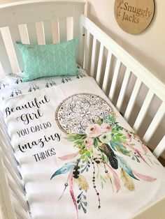 Baby Girl Cot Quilt Blanket Dreamcatcher Amazing Things Boho