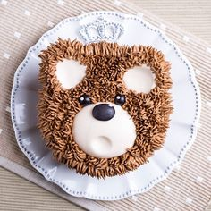 winter woodland party ideas and decor Pretty Cakes, Cute Cakes, Teddy Bear Cakes, Animal Cakes, Dessert Decoration, Cake Decorating Techniques, Cakes For Boys, Buttercream Cake, Sweets