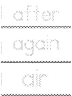 Sight Word Worksheets, Letter Identification, Reading Fluency, Pre Writing, Sight Words, Task Cards, Alphabet, Preschool, Campaign