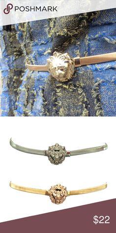 Gold Lion Belt Beautiful Gold lion head belt, fashion elastic chain belt. Fits from 26 inch to 40 inch waist. Accessories Belts