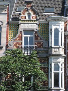Villa Germaine    Colourful Art Nouveau in the Place Amborix, Brussels