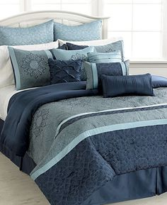 Ambrosia 12 Piece Queen Comforter Set - Bed in a Bag - Bed & Bath - Macy's