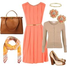 The coral, the browns, and the tans, it all goes together so sweetly!
