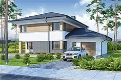Projekt domu Telmun 2 167,08 m2 - koszt budowy - EXTRADOM Planer, Outdoor Decor, Home Decor, Home Plans, Interior Design, Home Interior Design, Home Decoration, Decoration Home, Interior Decorating