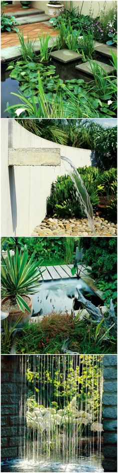 10 Inspiring Water Features for Your Garden! Click to See All: http://www.hgtvgardens.com/photos/landscape-and-hardscape-photos/just-add-water-garden-water-features?soc=pinterest