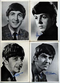 Beatles gum cards -- The Beatles Black and White 1st Series Gum Cards were issued in 1964