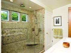 Love this walk-in shower! http://blog.crddesignbuild.com/featured/trend-hot-showers/