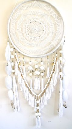 Golden Dreamers — Golden Dreamers - Oversized Dream Catcher - White Lullaby www.goldendreamers.com.au