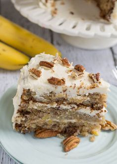 Hummingbird Cake - Submitted in 1978, became the most requested recipe in the magazine's history. Bananas, pineapple, cinnamon, and pecans with a thick cream cheese frosting. If Banana Bread and Carrot Cake had a baby, this is what it would taste like.