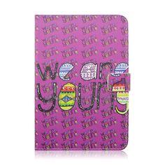 Alphabet Letter Magnetic Stand TPU+ PU Leather Case for iPad Mini 3 iPad Mini 2 Retina iPad Mini