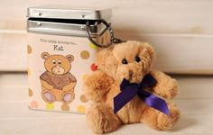 I Just Love It Personalised Keyring Teddy in a Tin - Dots Personalised Keyring Teddy in a Tin - Dots - Gift Details. This oh-so cute miniature teddy bear dangle from a keyring so he can hang nicely on any bag or keychain. Presented in a gorgeous gift tin com http://www.MightGet.com/january-2017-11/i-just-love-it-personalised-keyring-teddy-in-a-tin--dots.asp