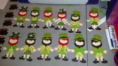 St. Patricks Day. I made cards from the Leprechauns. I used the Cricut to make my Paper Dolls Leprechauns. ~ March 2013