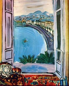 Raoul Dufy French 1877 - 1953 Window at Nice Art Arte Fauvismo Henri Matisse, Raoul Dufy, Art And Illustration, Oil Painting Reproductions, Canvas Art Prints, Art History, Modern Art, Art Photography, Art Gallery