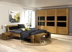 JABO Schlafzimmer aus astfreier Kiefer gefertiget - Oberfläche cognac lackiert