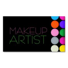 Colorful Eyeshadow Palette MakeUp Artist Cosmetics Business Card Templates