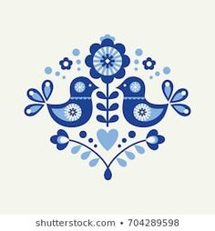 Find Floral Danish Folklore Card Vector Illustration stock images in HD and millions of other royalty-free stock photos, illustrations and vectors in the Shutterstock collection. Scandinavian Pattern, Scandinavian Folk Art, Folk Art Flowers, Flower Art, Pottery Painting, Fabric Painting, Mundo Hippie, Arte Tribal, Art Drawings For Kids
